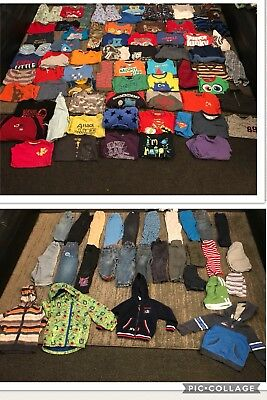 Baby Boys 2-3 Years Clothes Bundle 102 Items
