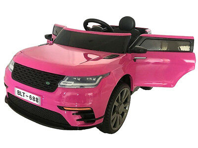 2018 KIDS RANGE Rover VELAR Style Electric Childs 12v Battery Ride On Car -  Pink