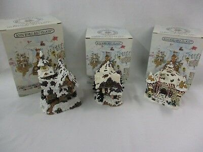 Lot of Boyds Bears Boyds Town Village- Kringle's Village Houses NIB's (CI)