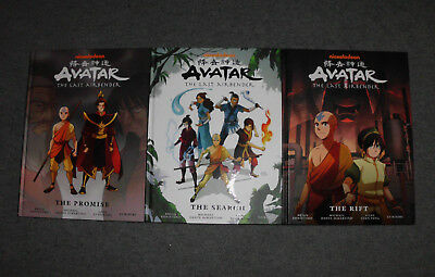 Avatar The Last Airbender: Library Edition 1-3 The Promise, The Search, The Rift