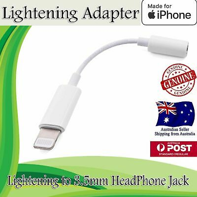 Genuine Apple Lightning to 3.5mm Headphone Jack Adapter iPhone X 7 7+ 8 8+