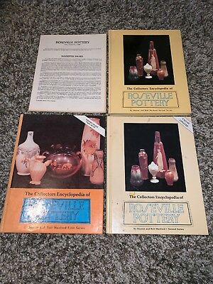 THE COLLECTOR'S ENCYCLOPEDIA OF ROSEVILLE POTTERY (3 Books) by Huxford