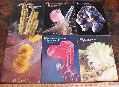 MINERALOGICAL RECORD MAGAZINE Vol 4 1973 All 6 Issues Complete Minerals Crystals