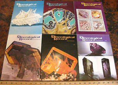 MINERALOGICAL RECORD MAGAZINE Vol 5 1974 All 6 Issues Complete Minerals Crystals