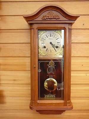 Wind up 8 Day Chiming  Highlands Wall Clock With Pendulum and Chimes.