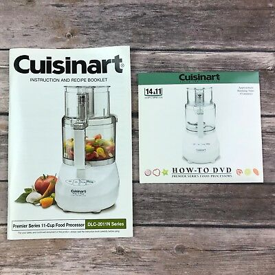 Cuisinart dlc-2011n series instruction recipe booklet dvd replacement parts