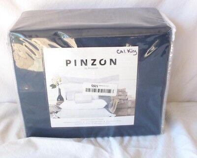 Pinzon 500 Thread Count Cotton Sheet Set - Cal King, Navy Blue