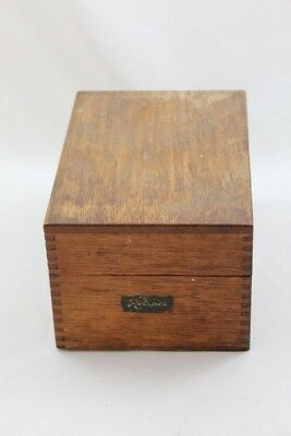 Wood Dovetail Index Card Box, Recipe Card Box, Antique, Shabby, Vintage Country