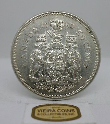1960 Canada Silver 50 Cents, Free Shipping -  #C12155