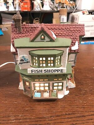 """New  Department 56 Heritage Village Dickens' Village """"The Mermaid Fish Shoppe"""""""