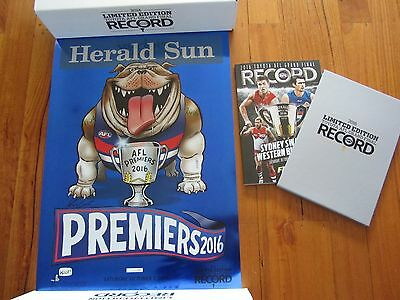 Afl Limited Edition 2016 Premiership Record Western Bulldogs Poster Mark Knight