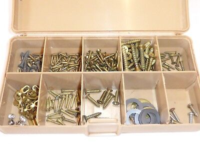 Lot of New Vintage BRASS & Brass Plated SCREWS & Parts