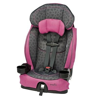 Evenflo Chase LX Booster Car Seat - Tonal Hearts