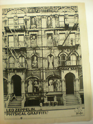 Led Zeppelin 8x10 Poster 1975 Advertising for Physical Graffiti Super RARE!