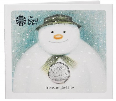 Royal Mint 2018 Snowman 50p Brand New Sealed Presentation Pack for Christmas