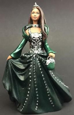 2004 Celebration Barbie Hallmark Ornament Green Dress Black African American