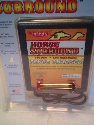New Parmak Horse Surround Fence Charger 110-20V AC Model HS-100 Manual USA