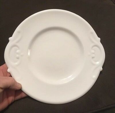 Antique Victorian White Porcelain Handled Cake / Biscuit Tray