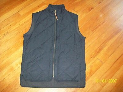 Nwt J. Crew Sussex Navy Blue Cotton Blend Full Zip Quilted Vest. Xs. $138.