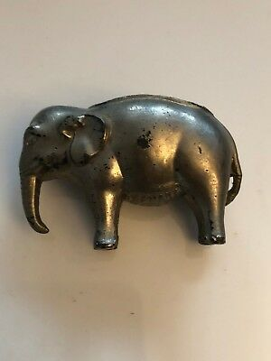 Antique Vintage Germany Metal Elephant Pin Cushion Holder
