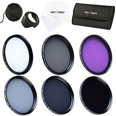 K&F Concept 62mm UV FLD CPL ND2 ND4 ND8 Lens Filter Kit Lens Accessory for Canon