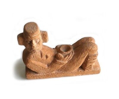 MAYAN Aztec STONE HAND CARVED Chac Mool Figurine