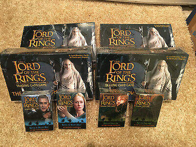 LOTR TCG DECIPHER Booster Box and Starter Deck Lot - Towers Block