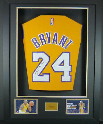 new products c66fa 25761 KOBE BRYANT #24 Los Angeles Lakers HOME Jersey Signed 3D Framed New LOOK!