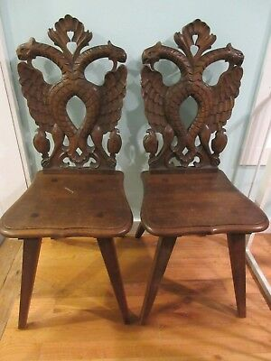 Pair of Extremely Rare Chairs - Simon Loscertales Bona Carved  Mythical Creature