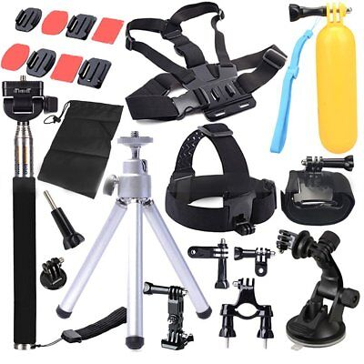 Head Chest Mount Floating Monopod Pole Accessories For Go Pro Hero 2 3 4 CameH1