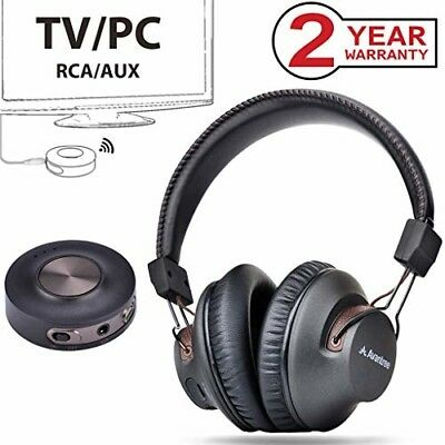 Wireless Headphones for TV Watching PC Gaming with Bluetooth Transmitter 3.5mm