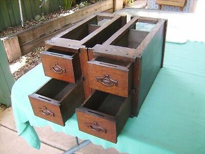 """4 X ANTIQUE""""WHITE""""SEWING MACHINE DRAWERS  in EXCEPTIONAL  CONDITION EARLY ITEMS"""