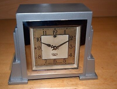 Vintage Art Deco Smiths Sectric Clock for Parts or Repair with power lead.