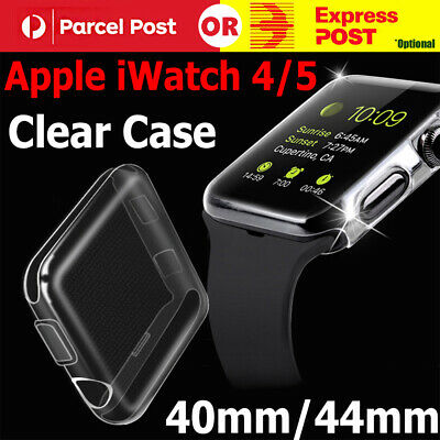 For Apple Watch Series 5 4 iWatch 40/44mm Clear TPU Screen Protector Case