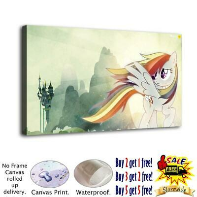 """12""""x22""""My Little Pony HD Canvas prints Painting Home decor Picture Room Wall art"""