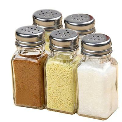 Clear Kitchen Glass Cruet Salt Pepper Seasoning Condiment Spice Shaker Bottle