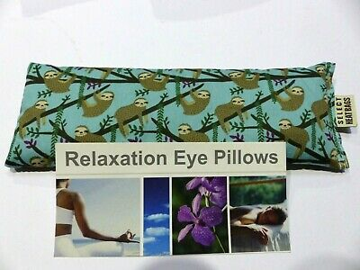 Cotton Eye Pillow Linseed - Yoga- SLOTHS - Relaxation - Choose scent 180+ grams