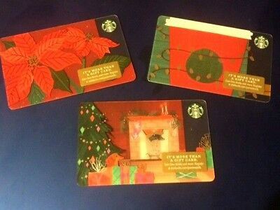 Free Ship 4 New Starbucks 2018 Christmas Holiday Gift Card Set & Free Surprise!