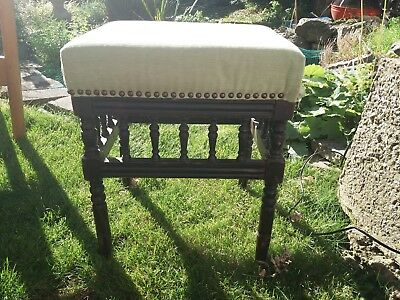 Edwardian Turned Leg Stool