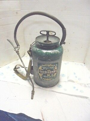vintage galvanized metal sprayer dobbins model 15A hand pump garden decor
