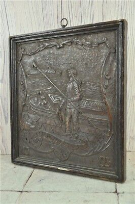 Oak Wood Carving Dated 1703 Mirror to other side