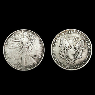 2pcs 38mm Retro 1900 American Foreign Silver Commemorative Coin Collection Gift