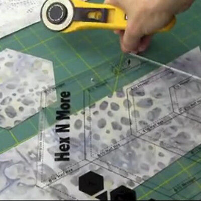 Quilting Sewing Tools Acryl Herrscher Diamond Shaped Quilt Patchwork  #NE8X