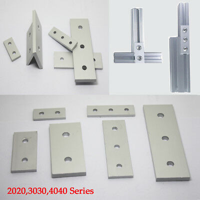 T-slot Straight Connector Flat Plate Aluminum 2020,3030,4040 Profile 2/3 Hole