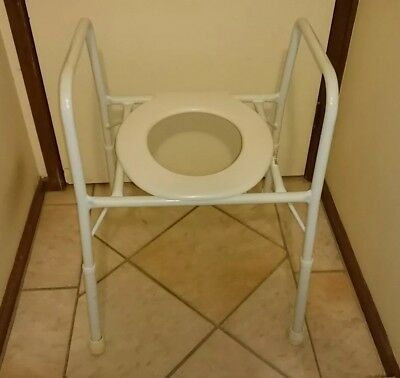 Aspire Over Toilet Chair (OTC), Frame Aid, Height Adjustable Elevated Seat, Arms