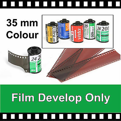 35mm Colour Film Developing Only (just the negatives)