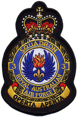 3 Squadron Royal Australian Air Force Crest RAAF Embroidered Patch