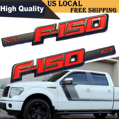 2009-2014 NEW OEM Ford F-150 XLT Sport Appearance Package Emblem Set -Black/Red