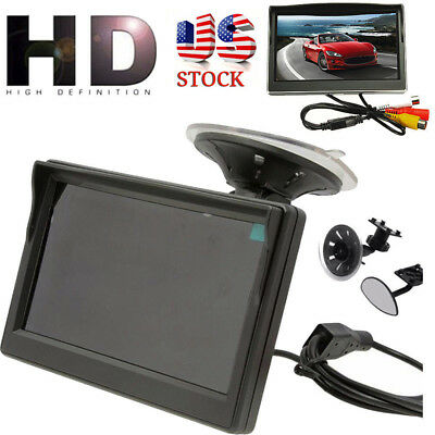 For Car Rear Reverse Rearview Backup Camera 800*480 TFT LCD HD Screen Monitor