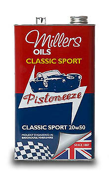 7912GCT_Millers Oils Classic Sport 20w50 Metal Can 5 Ltr.